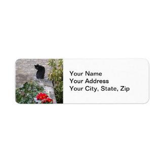 Garden Cat Custom Return Address Labels
