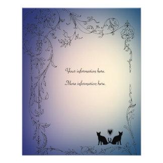 Garden Cat Lovers Wedding Insert Flyer