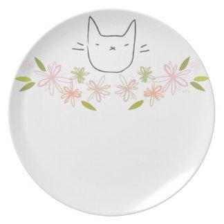 Garden Cat Melamine Plate