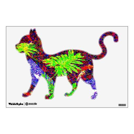GARDEN CAT WALKING WALL DECAL