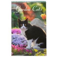 Garden Cats 2017 Size Medium Calendar at Zazzle