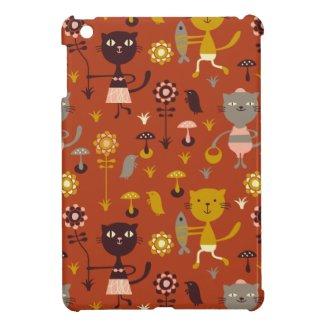 Garden cats iPad mini cases