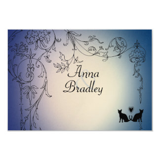 Garden Cats RSVP with envelopes 3.5x5 Paper Invitation Card