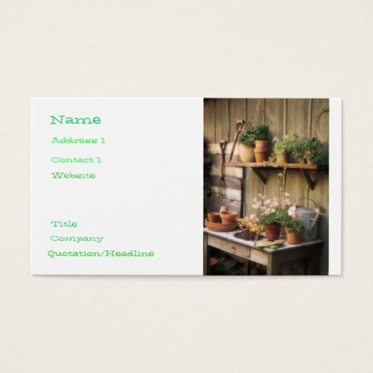 Garden Central Business Card