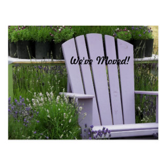 Garden Chair Change of Address Postcard