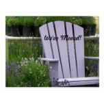 Garden Chair Change of Address Postcards