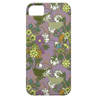 Garden Charm 1:  Bird and Bloom busy print vintage iPhone SE/5/5s Case