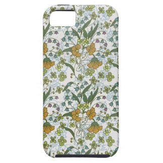 Garden Charm 9: vintage flower print yellow orange iPhone SE/5/5s Case
