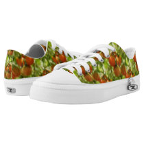 Garden Cherry Tomatoes Nature Pattern Low-Top Sneakers