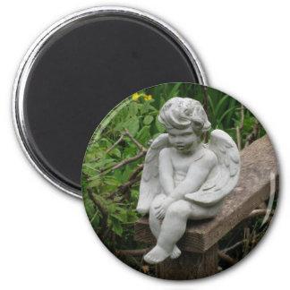 Garden Cherub Magnet