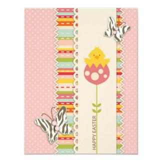 Garden Chick Invitation Card A2