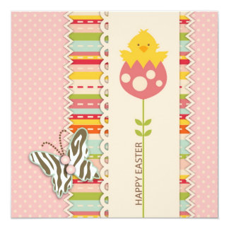 Garden Chick Square Card