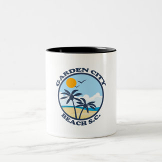 Garden City Beach. Two-Tone Coffee Mug