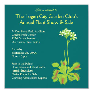 Garden Club Floral Invitations