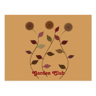 Garden Club Flowers Postcard