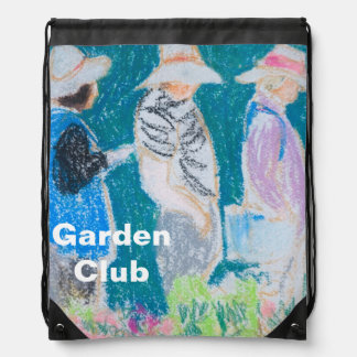 Garden Club Pastel Painting Template Sack Drawstring Backpack