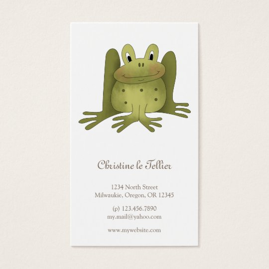 Garden Collection · Frog Business Card