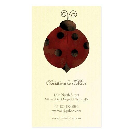 Garden Collection · Ladybug Business Card