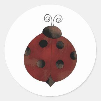 Garden Collection · Ladybug Classic Round Sticker
