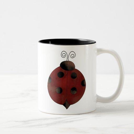 Garden Collection · Ladybug Two-Tone Coffee Mug