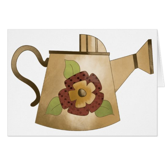 Garden Collection · Watering Can Red Flower Card