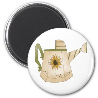 Garden Collection · Watering Can Sunflower 2 Inch Round Magnet