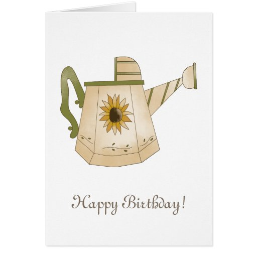 Garden Collection · Watering Can with Sunflower Greeting Card