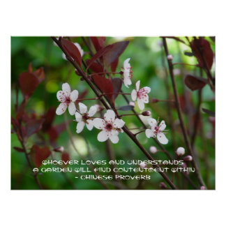 Garden Contentment-Chinese Proverb Poster