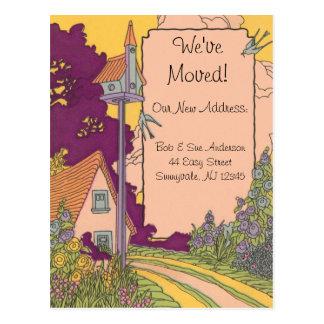 Garden Cottage New Address Postcard