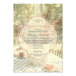 Garden Country Chic Soft Faded Flowers Card
