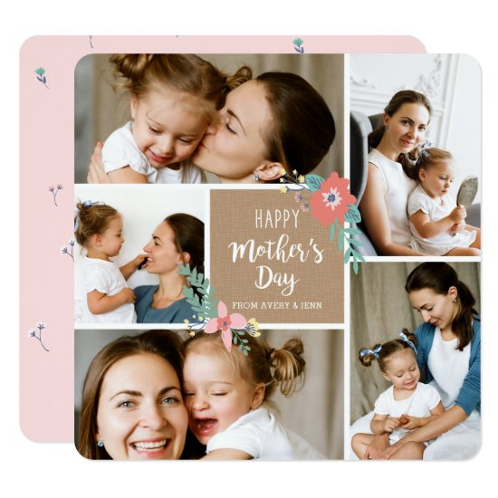 Garden Craft 5 Photo Mother's Day Card