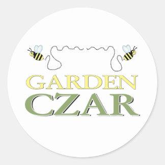Garden Czar Classic Round Sticker