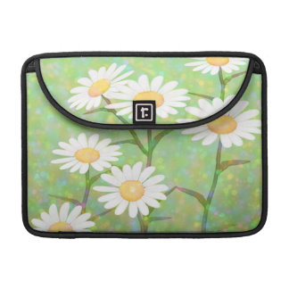 Garden Daisies Bokeh Dots Sleeves For MacBook Pro