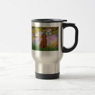 Garden - Dark Red Poodle #1 15 Oz Stainless Steel Travel Mug