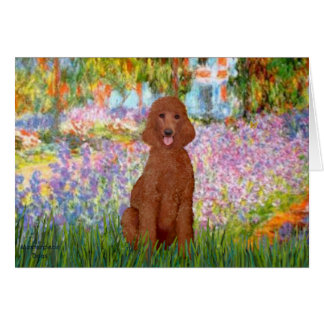Garden - Dark Red Poodle #1 Card
