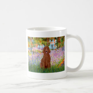 Garden - Dark Red Poodle #1 Coffee Mug