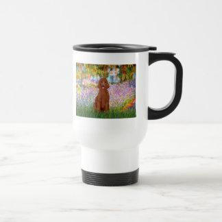 Garden - Dark Red Poodle #1 Travel Mug