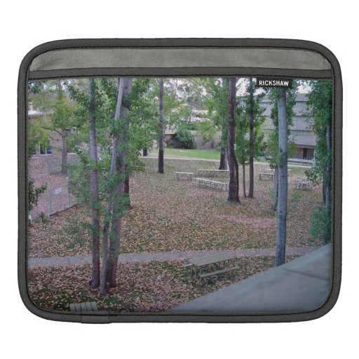 Garden decorated with fallen leaves iPad sleeve