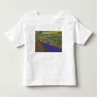 Garden design of Grape Hyacinth, and tulips, Toddler T-shirt