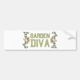Garden Diva Car Bumper Sticker