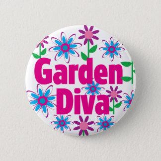 Garden Diva Pinback Button