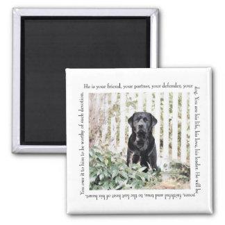 Garden Dog Magnet