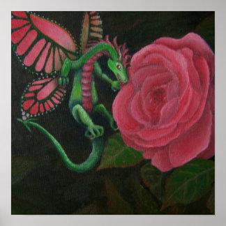 Garden Dragon Poster