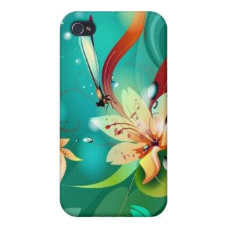 Garden Dragonflies 4  Case For iPhone 4