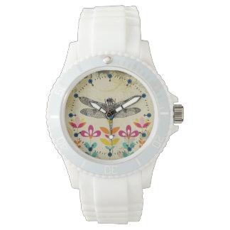 Garden Dragonfly Silicone Sport Watch