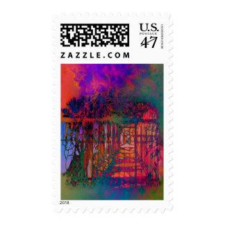 """""""Garden Dream"""" Fantasy Postage Stamps"""