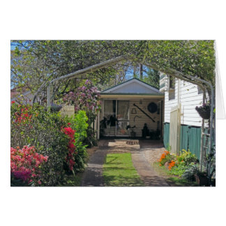 garden driveway BLANK note/greeting card