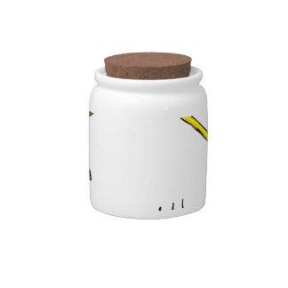 Garden Equipment Sketch Candy Jar
