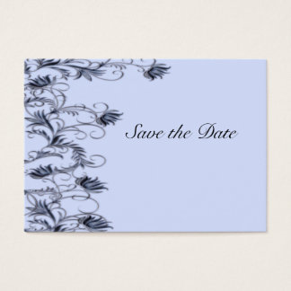 Garden Essence Charcoal Blue Save The Date Cards