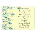Garden Essence Teal And Yellow Direction Cards Business Card
